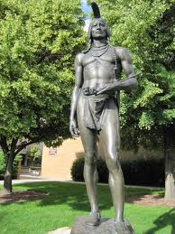 The Native-American statue clearly lacks clothes, thereby breaking most honor code restrictions.