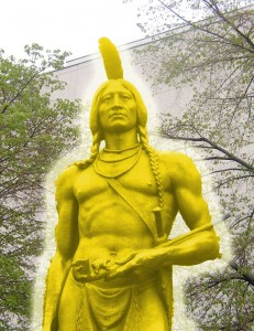 Chief Massasoit clothed in Celestial Glory (A glory only the righteous can see)