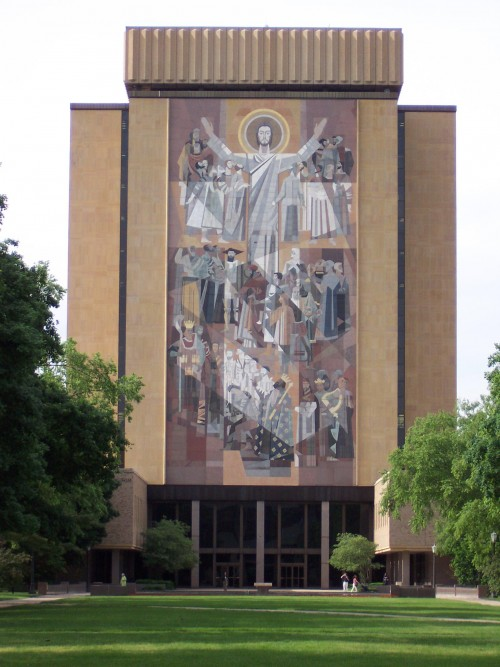 Touchdown Jesus: Instrumental figure in the victory over BYU.