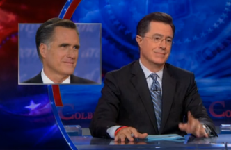 romney and colbert