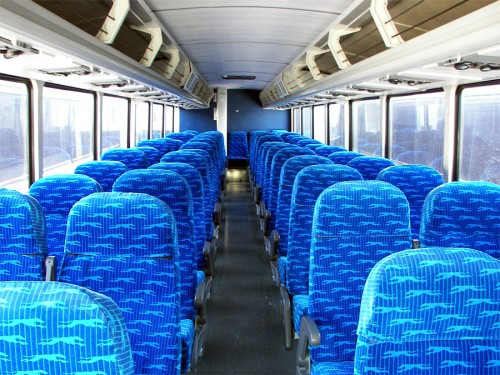 """""""We made sure to get the seats in a Democratic blue color,"""" said President Worthen."""